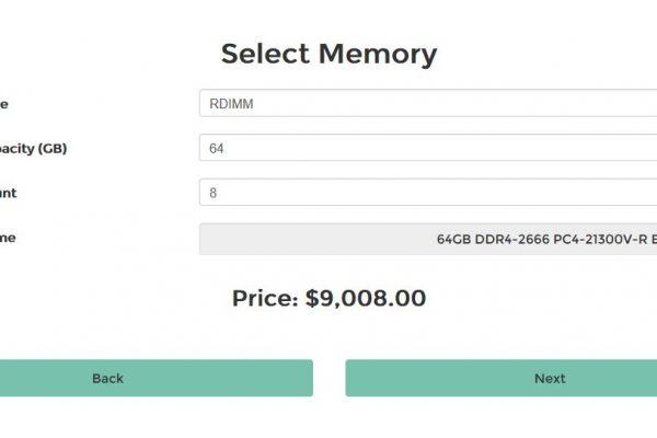 Server Pricing Tool